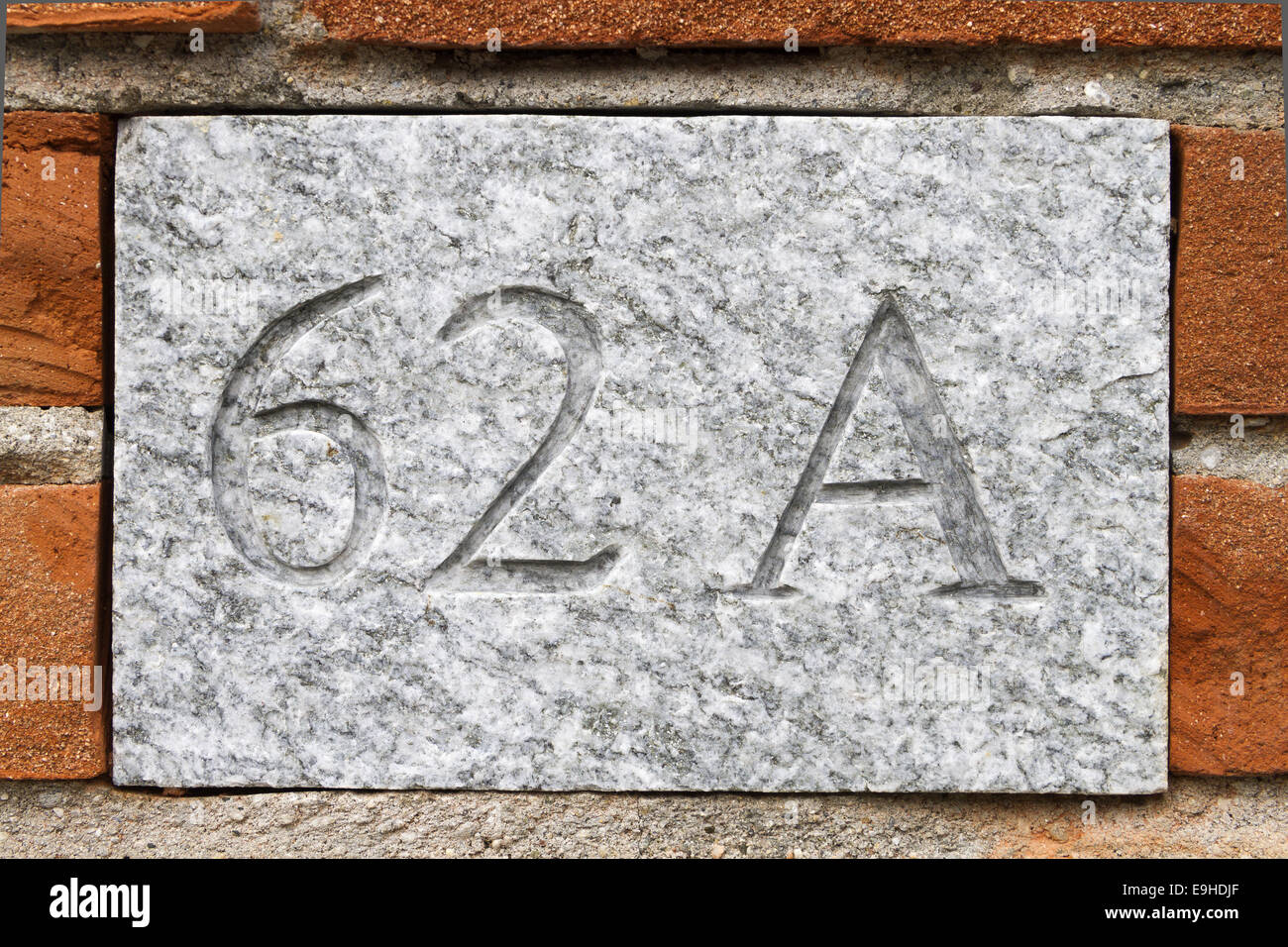house number 62 A Stock Photo