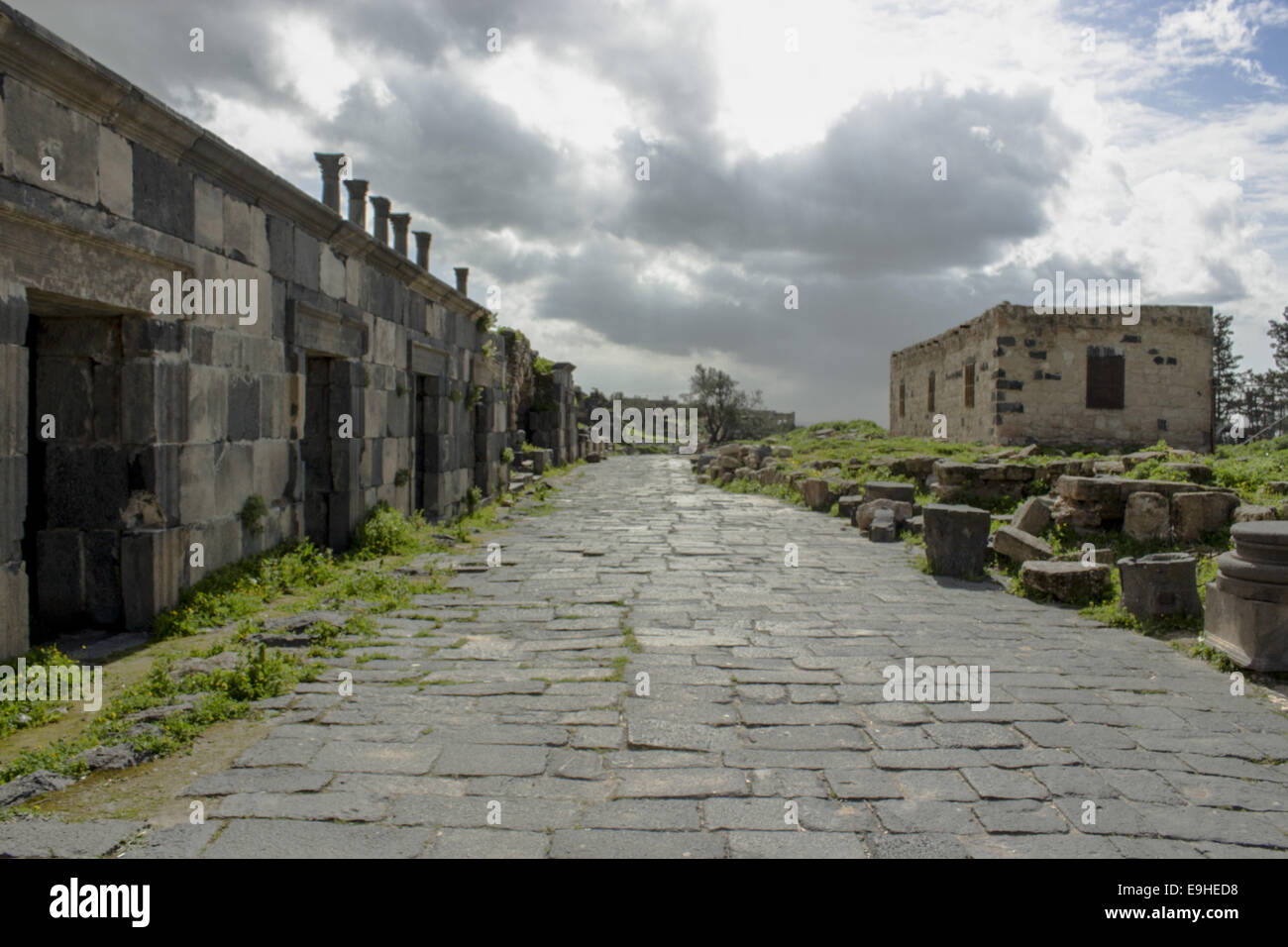 Umm Qais City - Stock Image