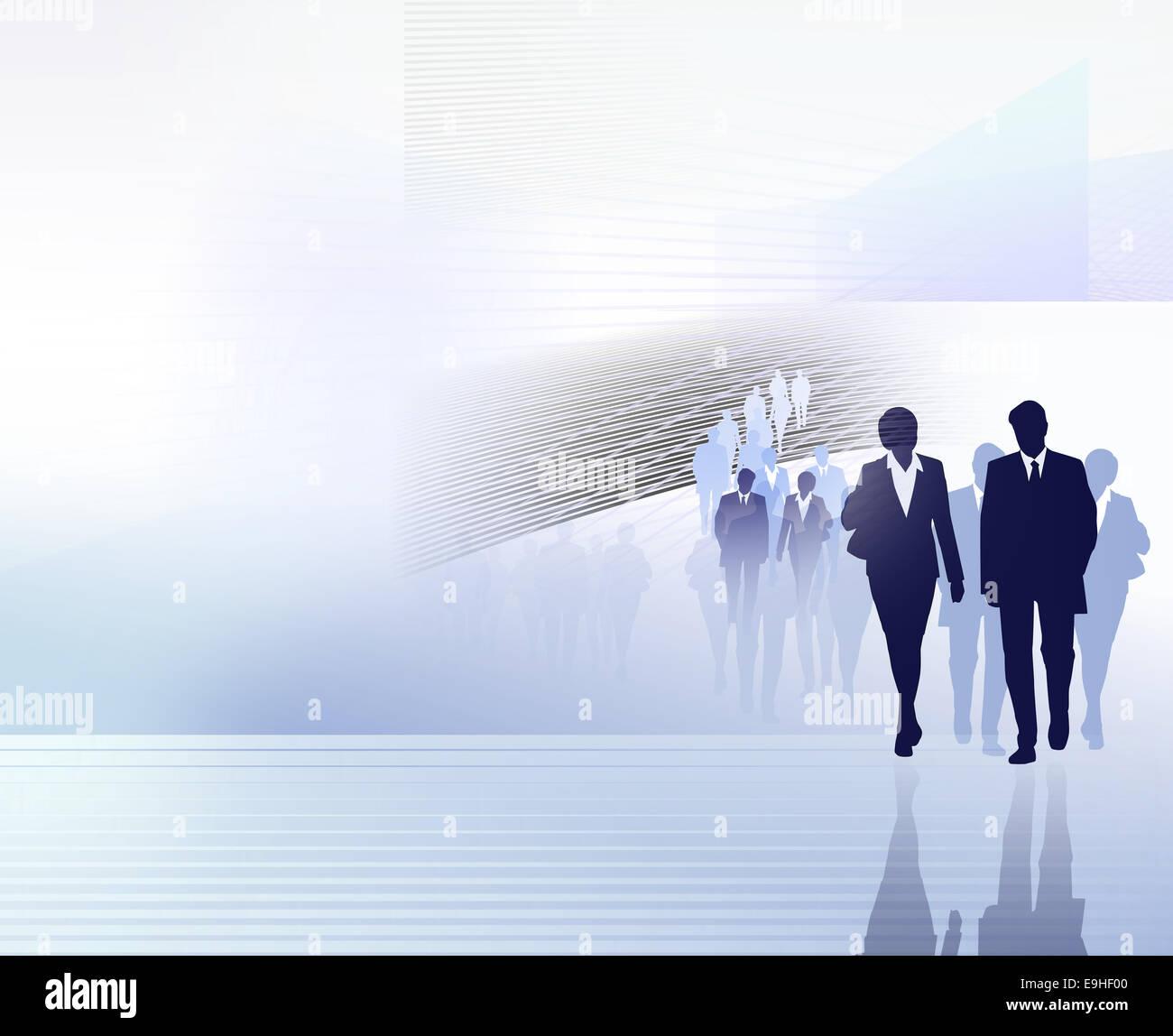 people business illustration - Stock Image