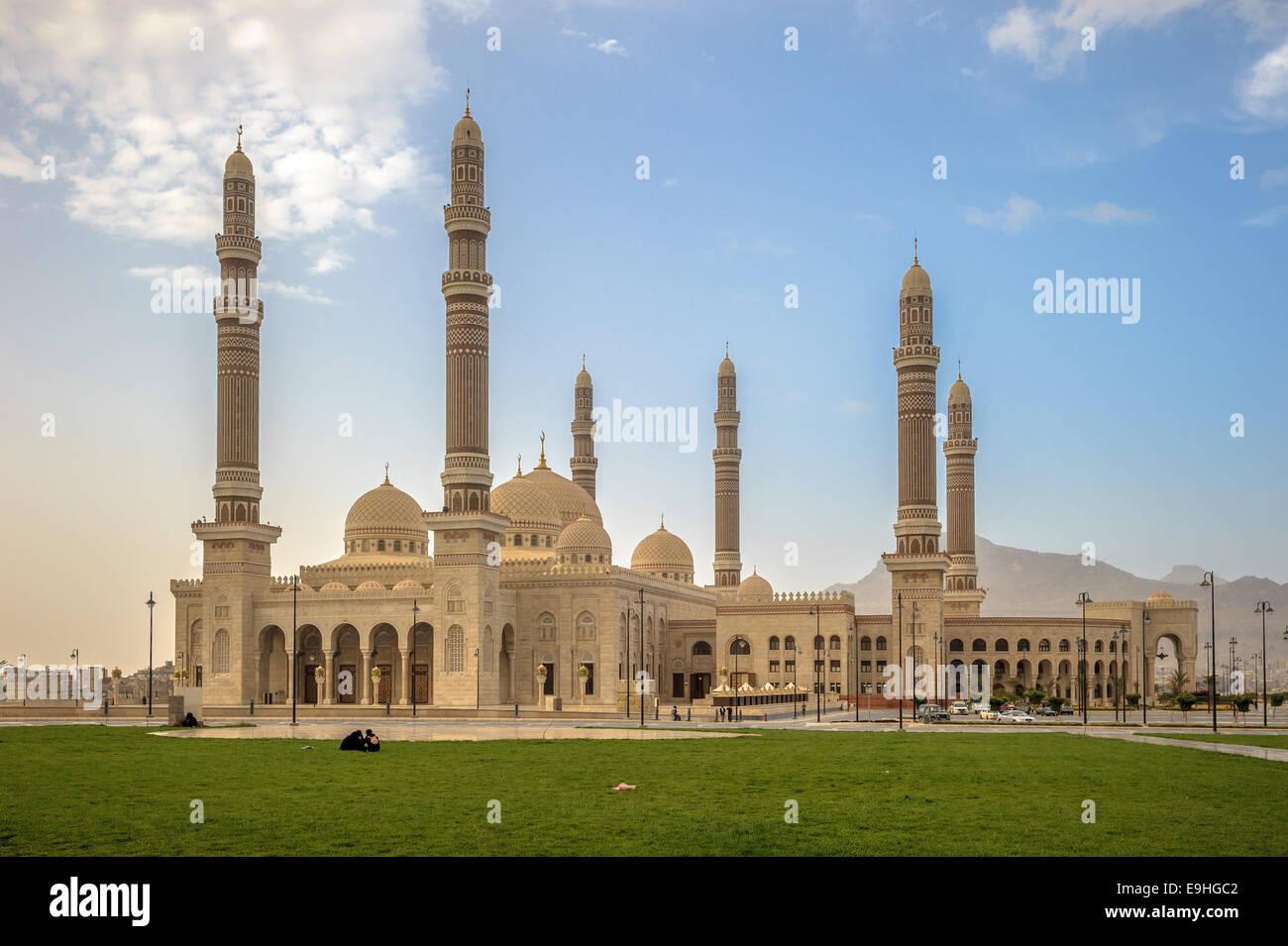 Al Saleh mosque in Sanaa, Yemen - Stock Image