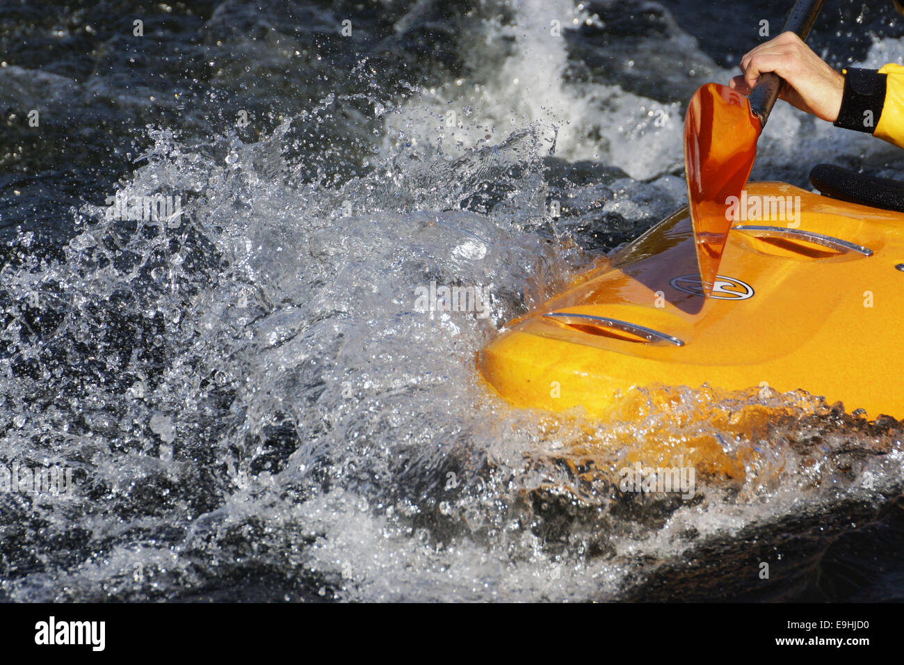 The whitewater park in Hohenlimburg, Germany - Stock Image