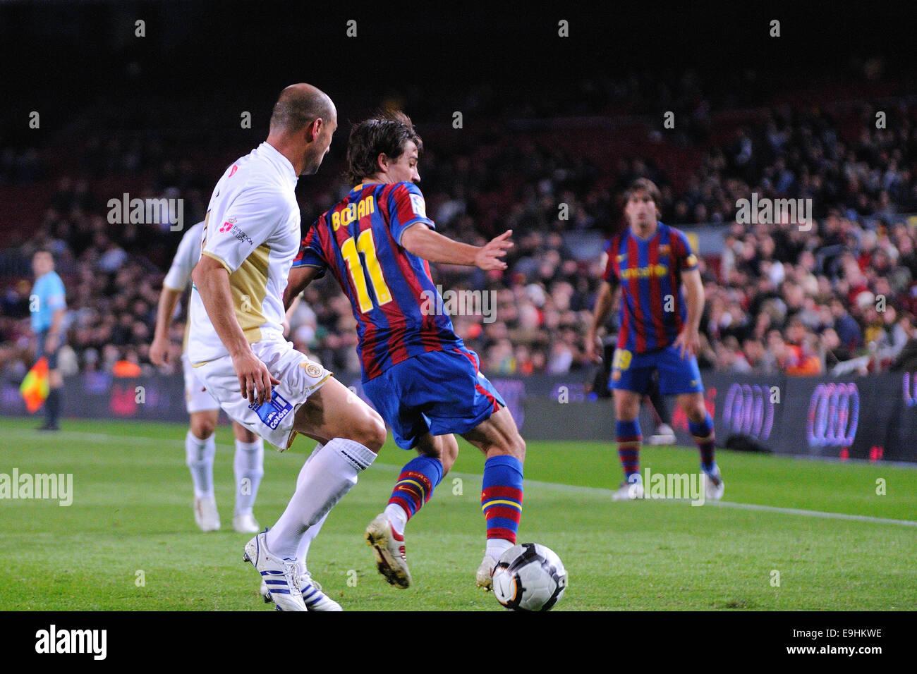 BARCELONA - NOV 10: Bojan Krkic, F.C Barcelona player, plays against Cultural Leonesa at the Camp Nou Stadium on - Stock Image