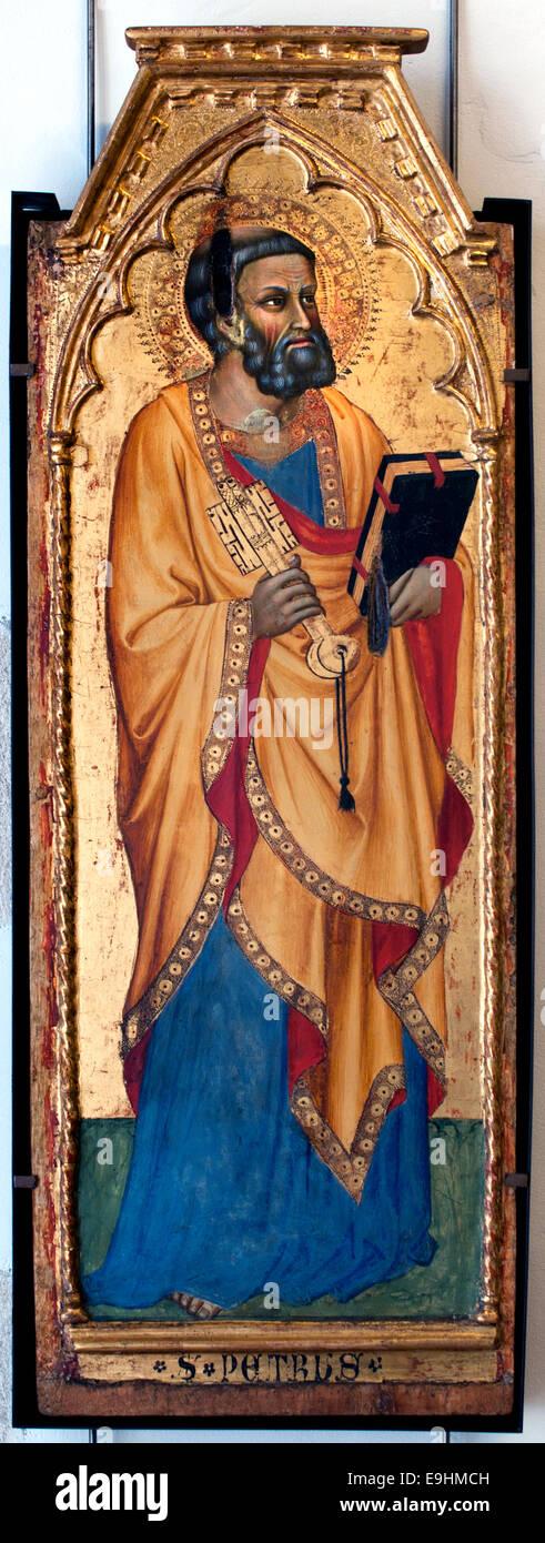 St. Peter by Cecco di Pietro 1364 -1402  Italy Italian - Stock Image