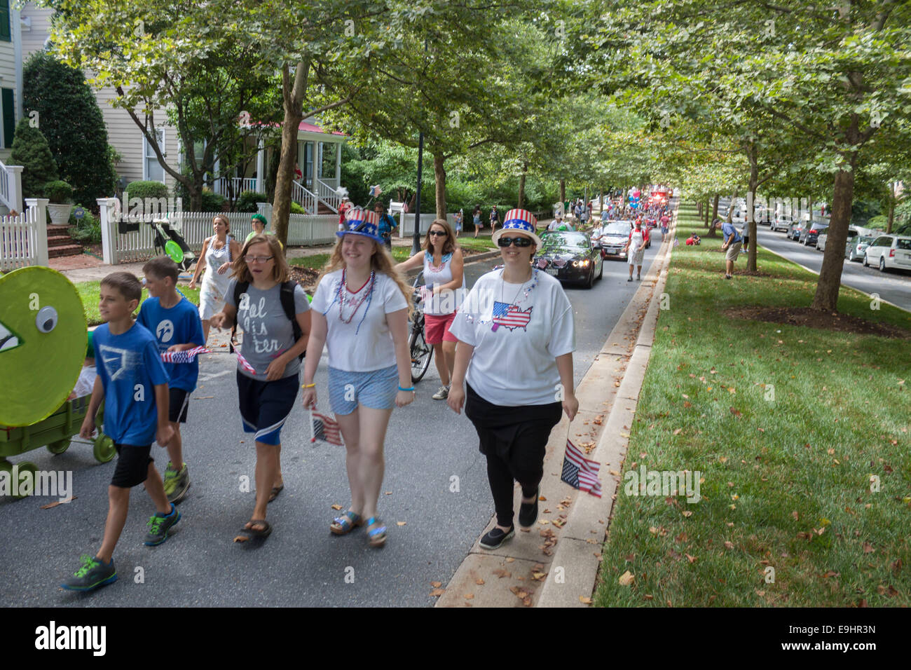 Fourth of July Parade - Stock Image