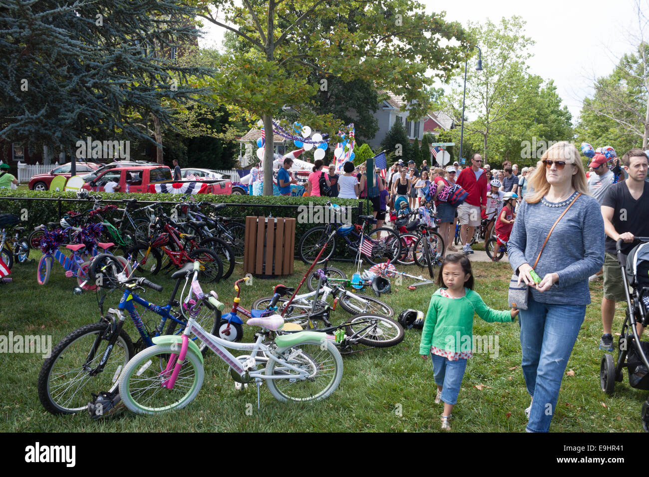 Fourth of July Community Festival - Stock Image