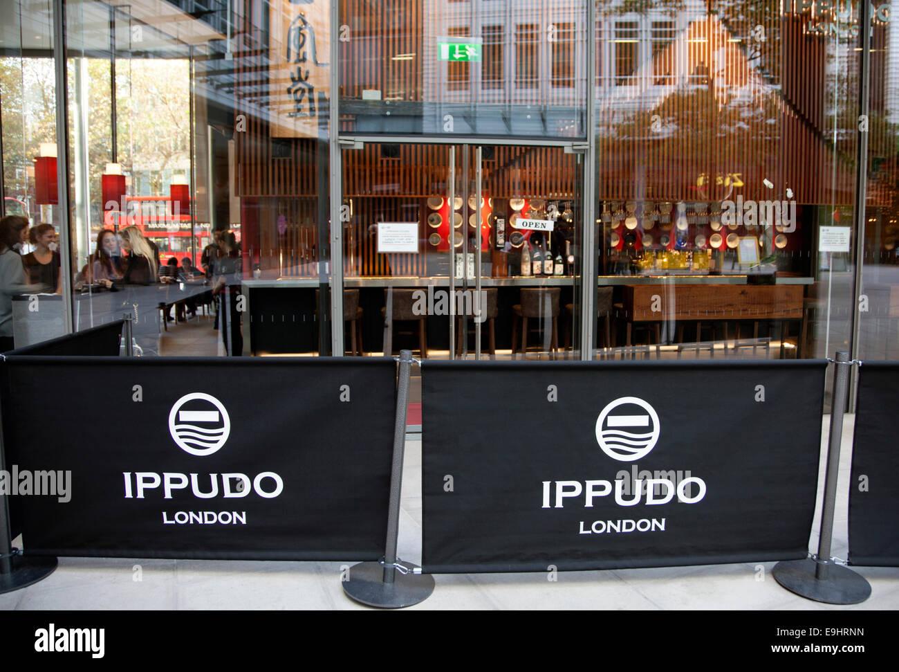 Ippudo noodles restaurant, Holborn, London - Stock Image