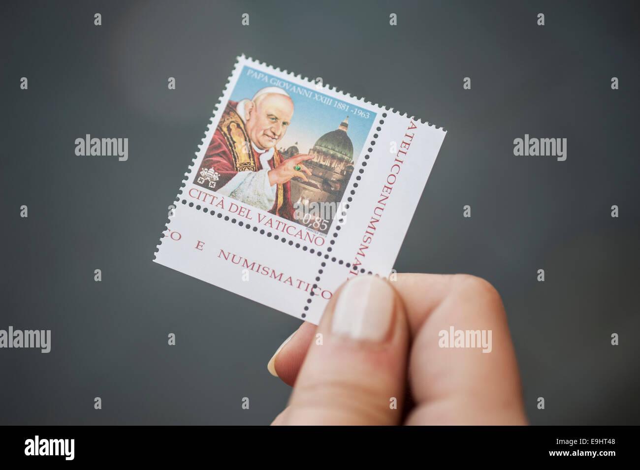 The Vatican City Postal Service Stamp - Stock Image
