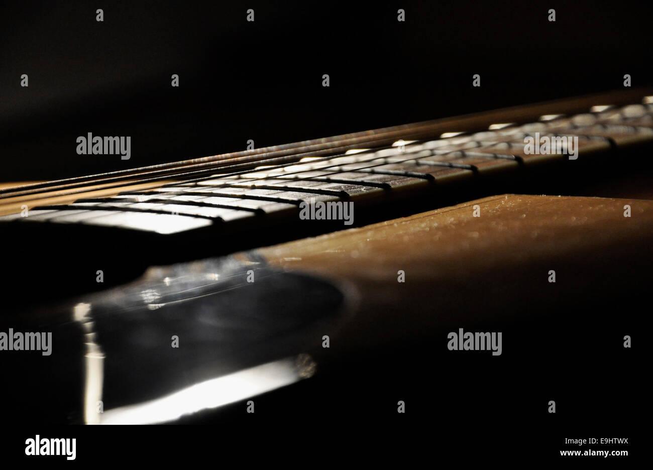 Guitar Close-Up - Stock Image