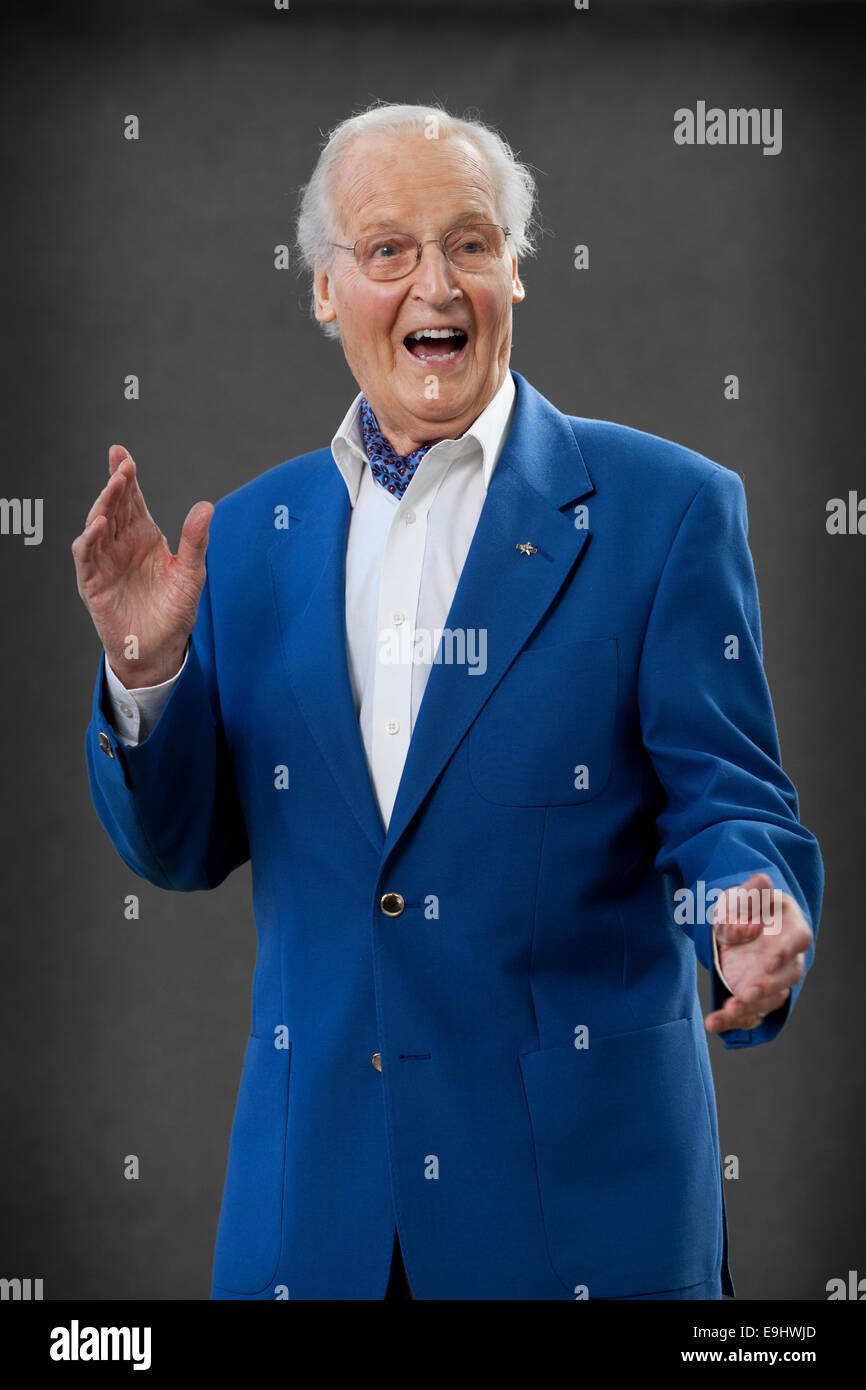 Nicholas Parsons, CBE, the radio and television presenter and actor, at the Edinburgh International Book Festival - Stock Image