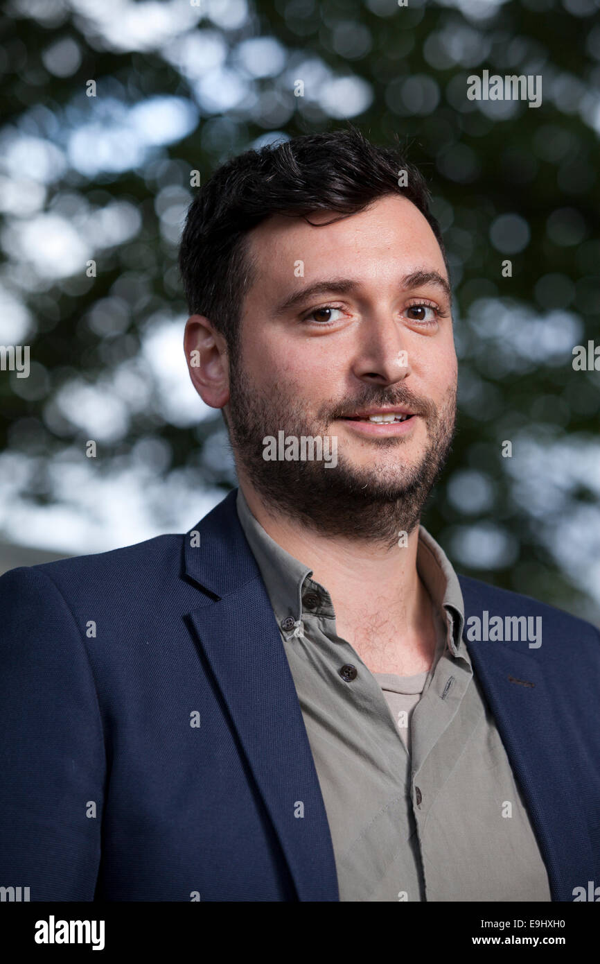 James Ley, playwright and theatre producer, at the Edinburgh International Book Festival 2014. Edinburgh, Scotland. - Stock Image