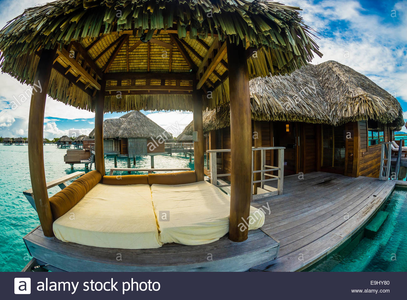 Bora Bora Overwater Bungalow Resort Stock Photos Amp Bora