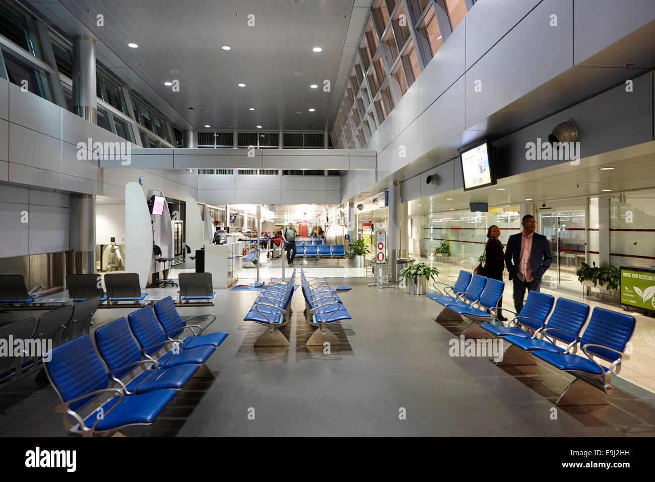 departure lounge of st john's international airport newfoundland Canada - Stock Image