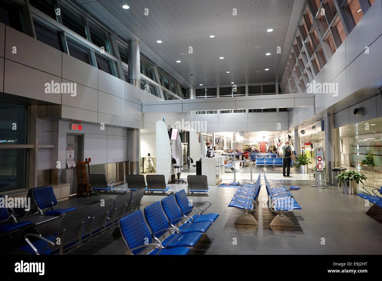 departure lounge of st john's international airport newfoundland Canada - Stock Image