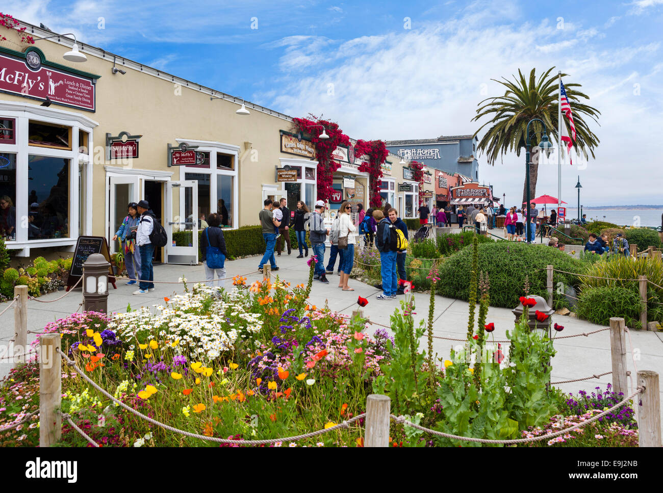 Restaurants And Stores In Steinbeck Plaza Cannery Row