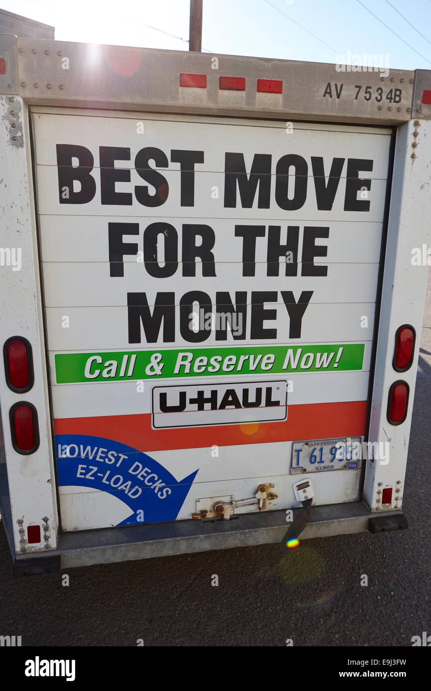 u-haul trailer closed - Stock Image
