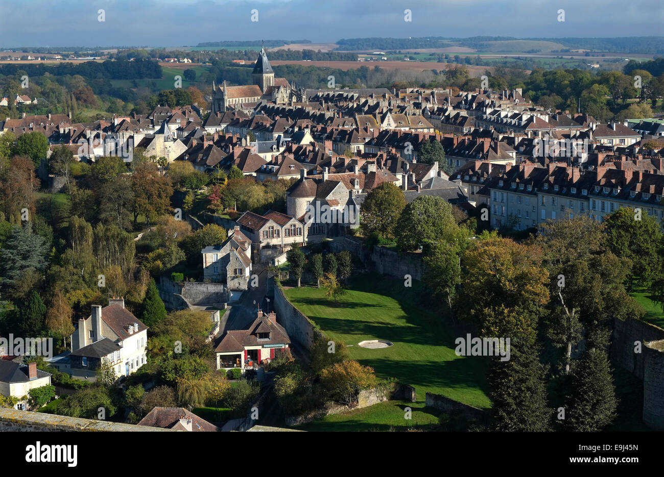 falaise town centre, normandy, france Stock Photo