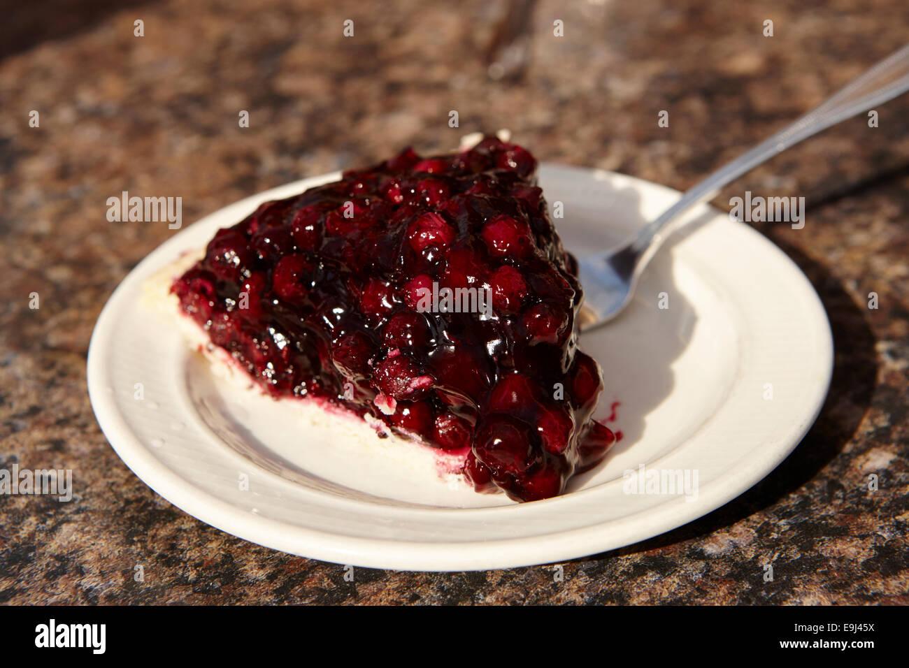 saskatoon berry pie Saskatchewan Canada Stock Photo