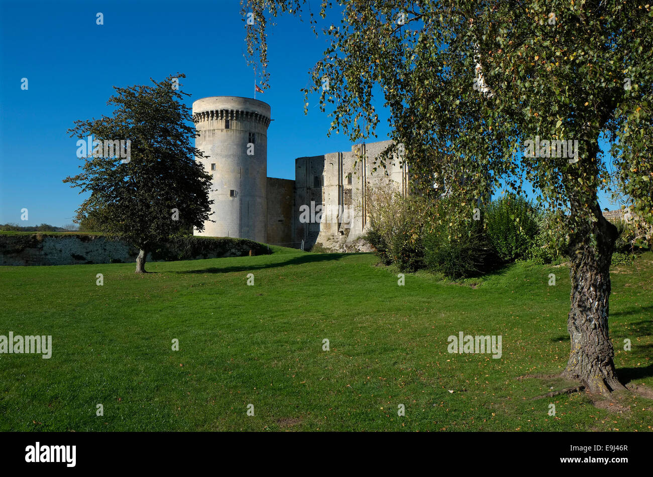 falaise chateau castle, normandy, france Stock Photo