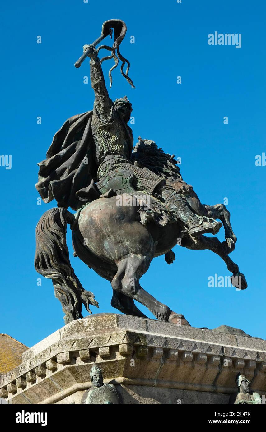 statue of william the conqueror, falaise, france - Stock Image