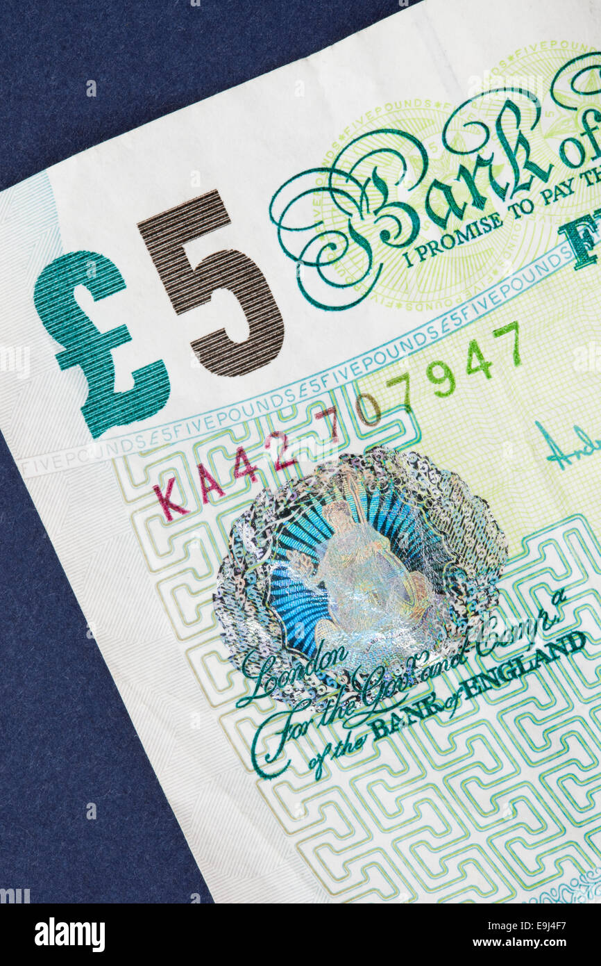 Old Five Pound Notes Stock Photos & Old Five Pound Notes Stock
