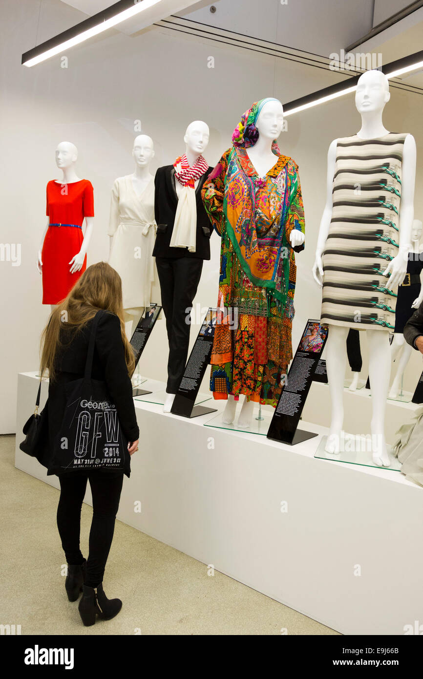 The Exhibition Women Fashion Power Opens At The Design Museum London Stock Photo Alamy