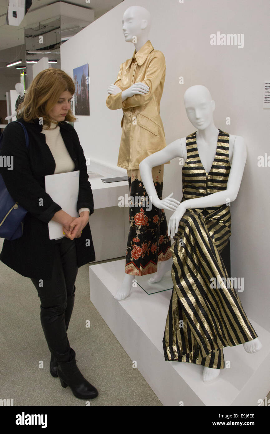 The Exhibition Women Fashion Power Opens At The Design Museum London Stock Photo 74773622 Alamy