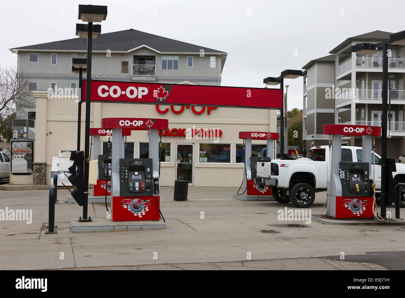 co-op gas self service station Saskatchewan Canada - Stock Image