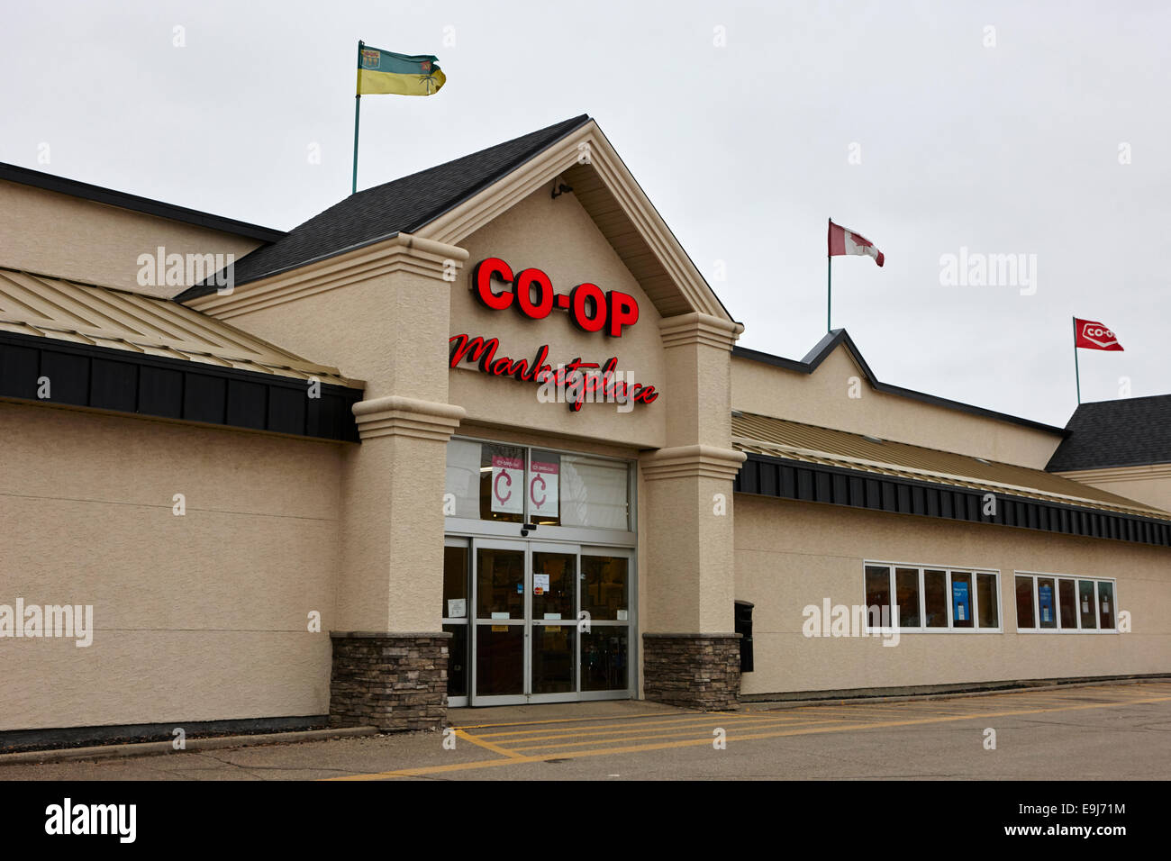 co-op marketplace supermarket weyburn Saskatchewan Canada - Stock Image