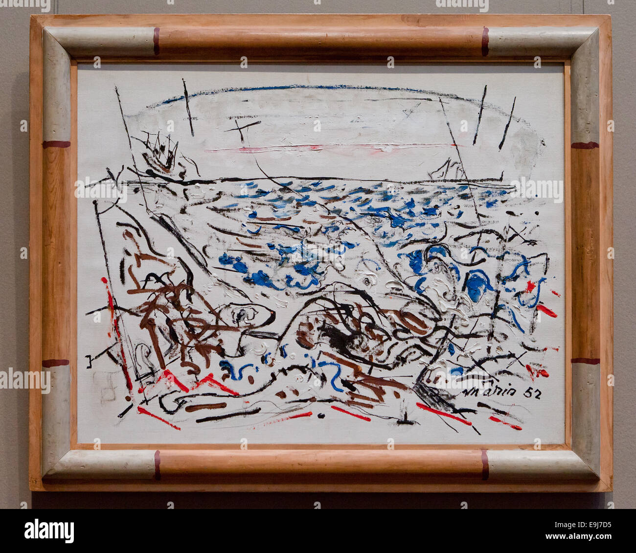 The Written Sea by John Marin, 1952 - Stock Image