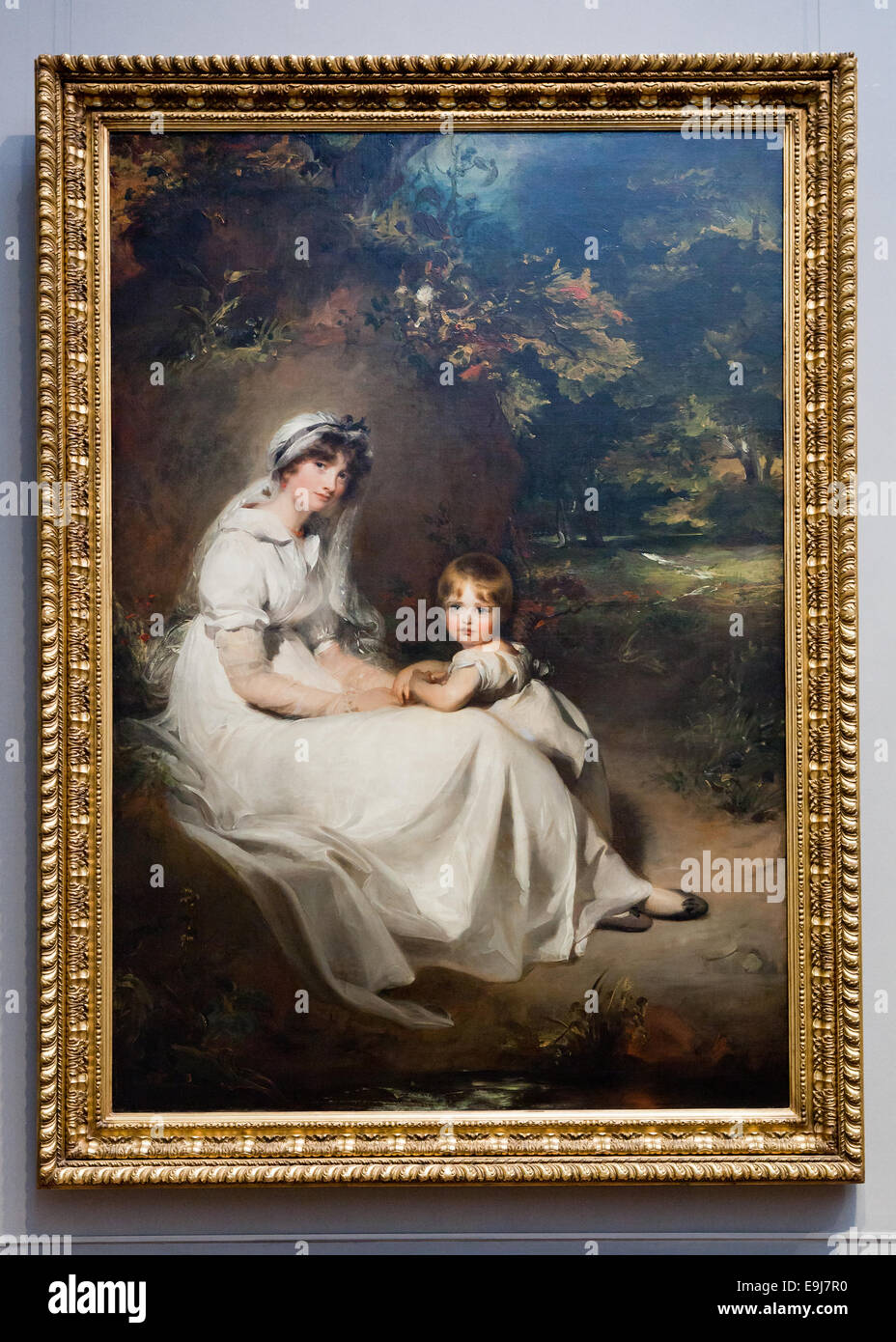 Lady Mary Templetown and Her Eldest Son by Sir Thomas Lawrence, 1802 - Stock Image