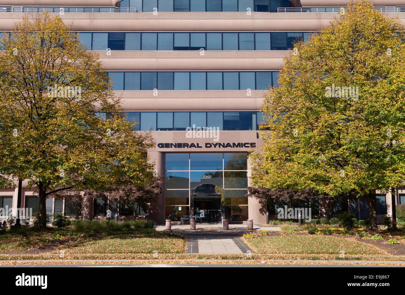 General Dynamics headquarters building - West Falls Church, Virginia USA - Stock Image