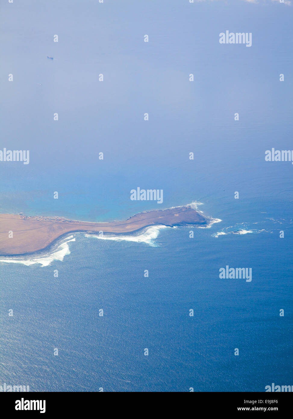 Fuerteventura, Canary islands, from the air, southern tip of the island - Stock Image