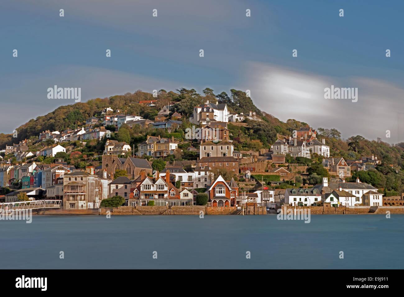 Looking across to Kingswear From Dartmouth, Devon, England, Uk - Stock Image