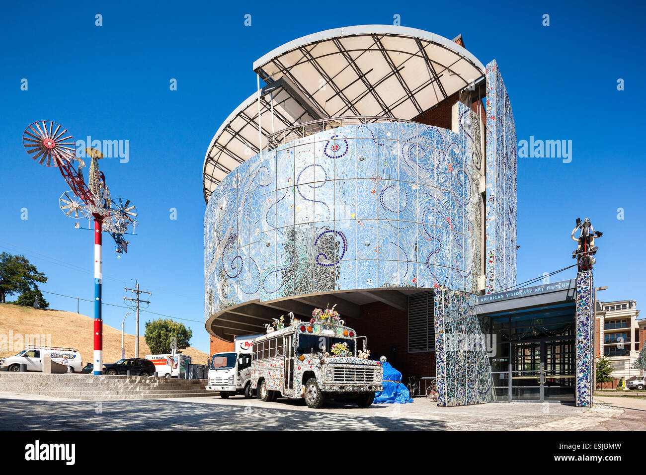 American Visionary Art Museum, Baltimore Maryland. National Museum for outsider art, or art brut, by self-taught - Stock Image