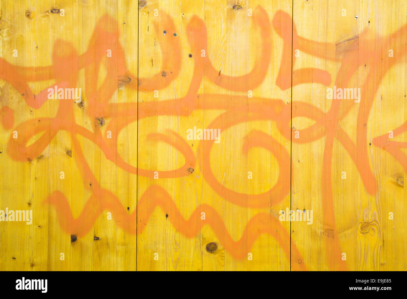 painted wooden wall Stock Photo