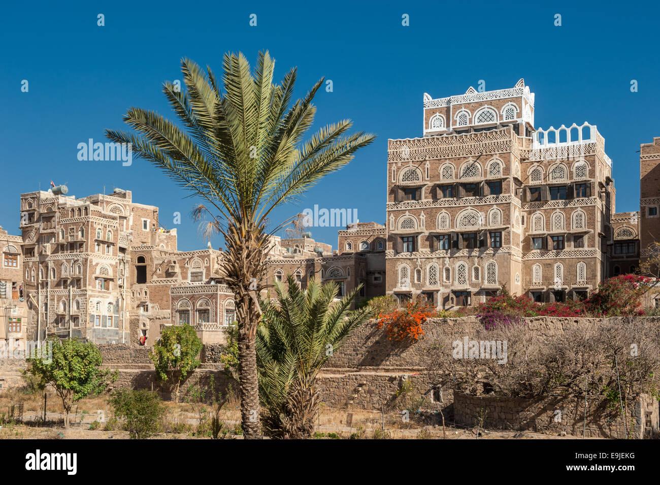 Streets of Sanaa, Yemen - Stock Image