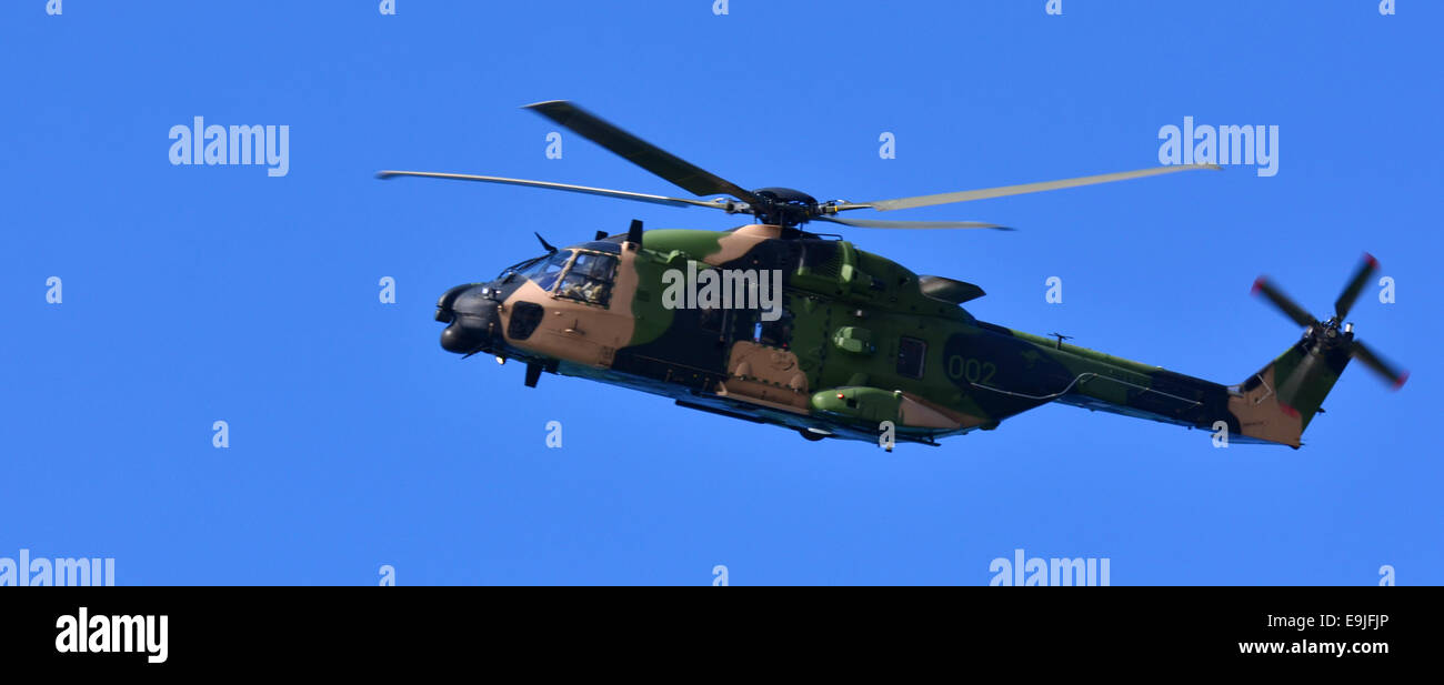 GOLD COAST- OCT 22 2014:Australian AgustaWestland AW101. The type has been deployed to active combat theatres, such - Stock Image