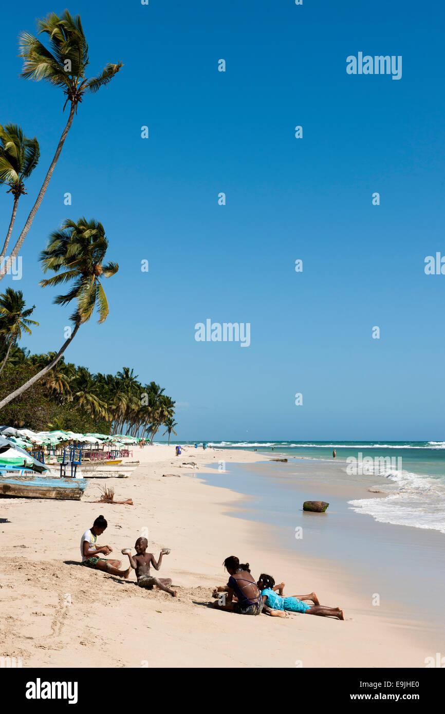Dominikanische Republik, Osten, Juan Dolio, Guayacanes-Strand Stock Photo