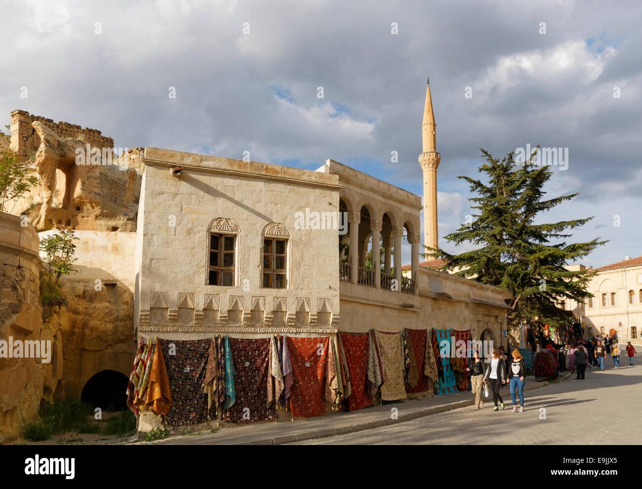 Street scene, Mustafapaşa, Nevşehir Province, Cappadocia, Central Anatolia Region, Anatolia, Turkey - Stock Image