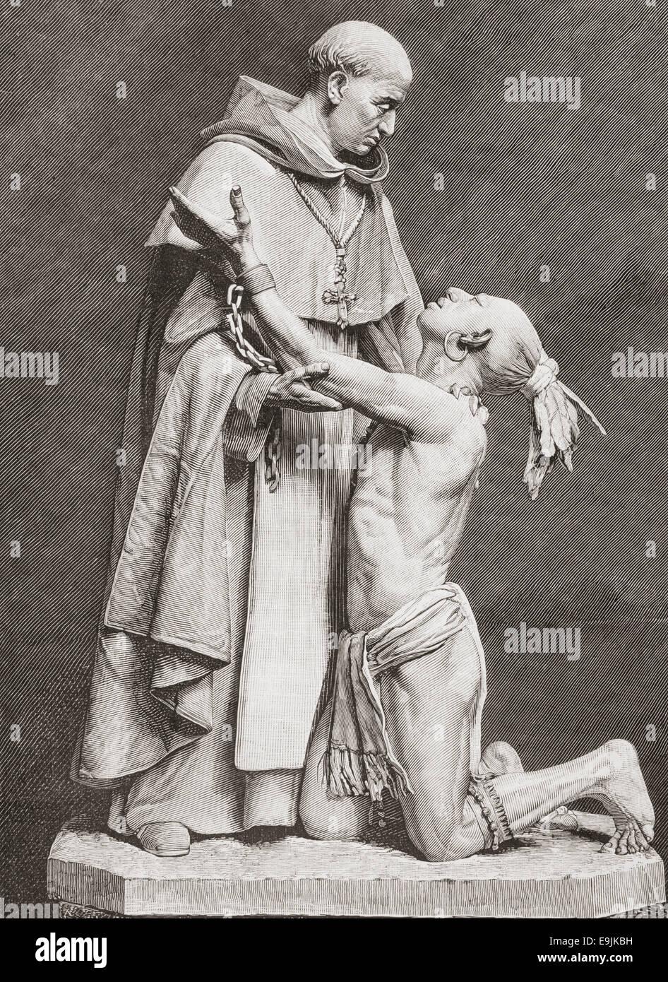 Bartolomé de las Casas, c. 1484 - 1566.  16th-century Spanish historian, social reformer and Dominican friar. - Stock Image