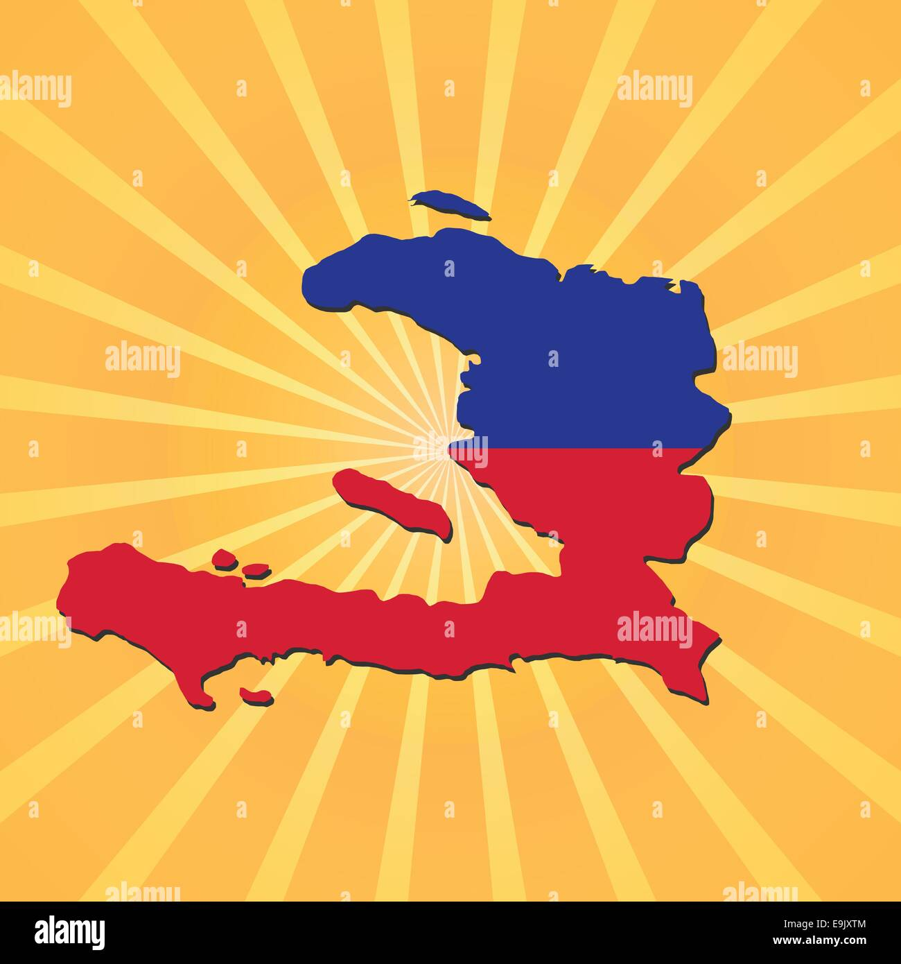 Haitian Map Stock Vector Images - Alamy