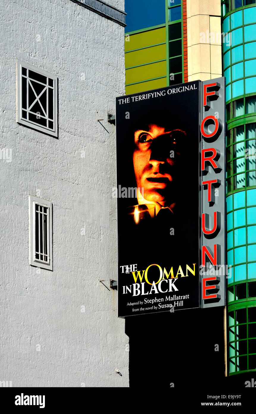 London, England, UK. The Woman in Black at the Fortune Theatre, Russell Street, Covent Garden - Stock Image