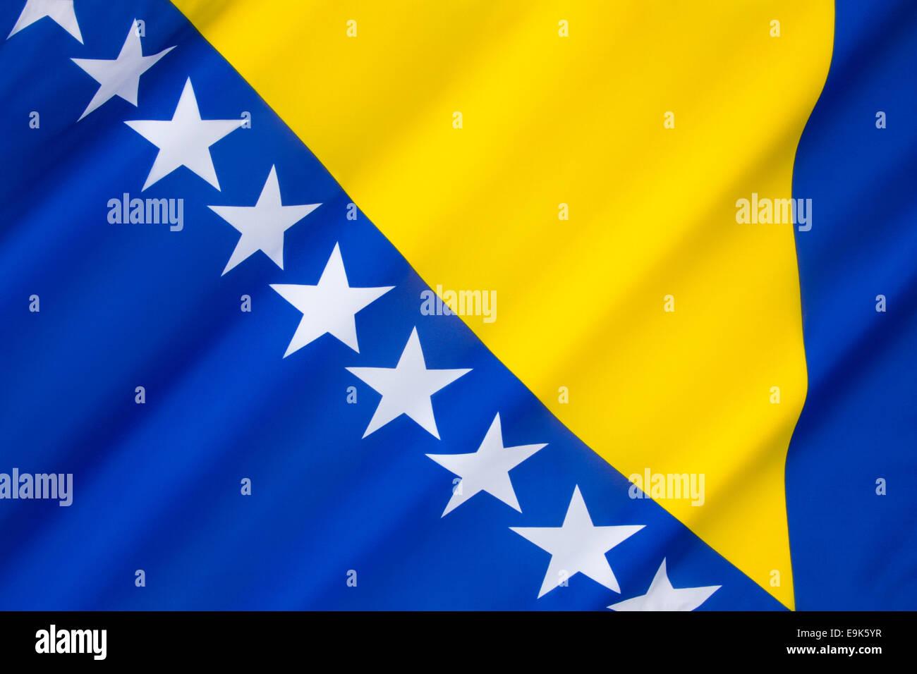 Flag of Bosnia and Herzegovina - Stock Image
