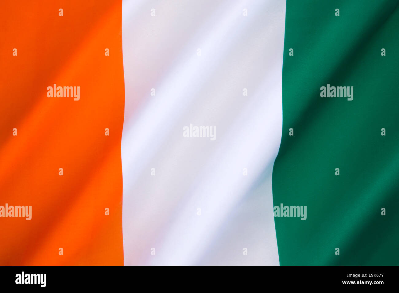 The flag of Ivory Coast - Stock Image