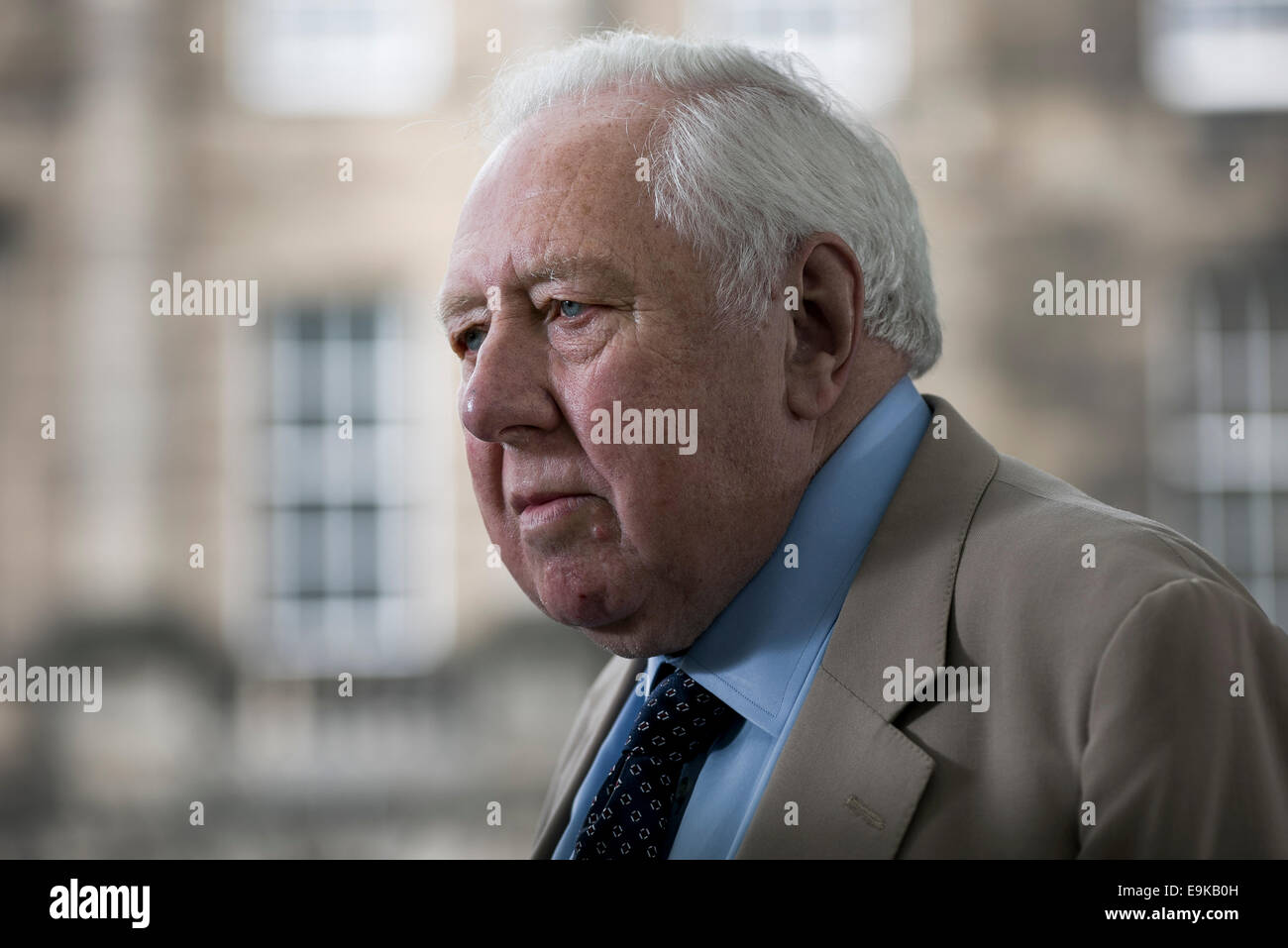 British Labour politician, author and journalist Roy Hattersley, Baron Hattersley, FRSL, PC, at the Edinburgh book - Stock Image