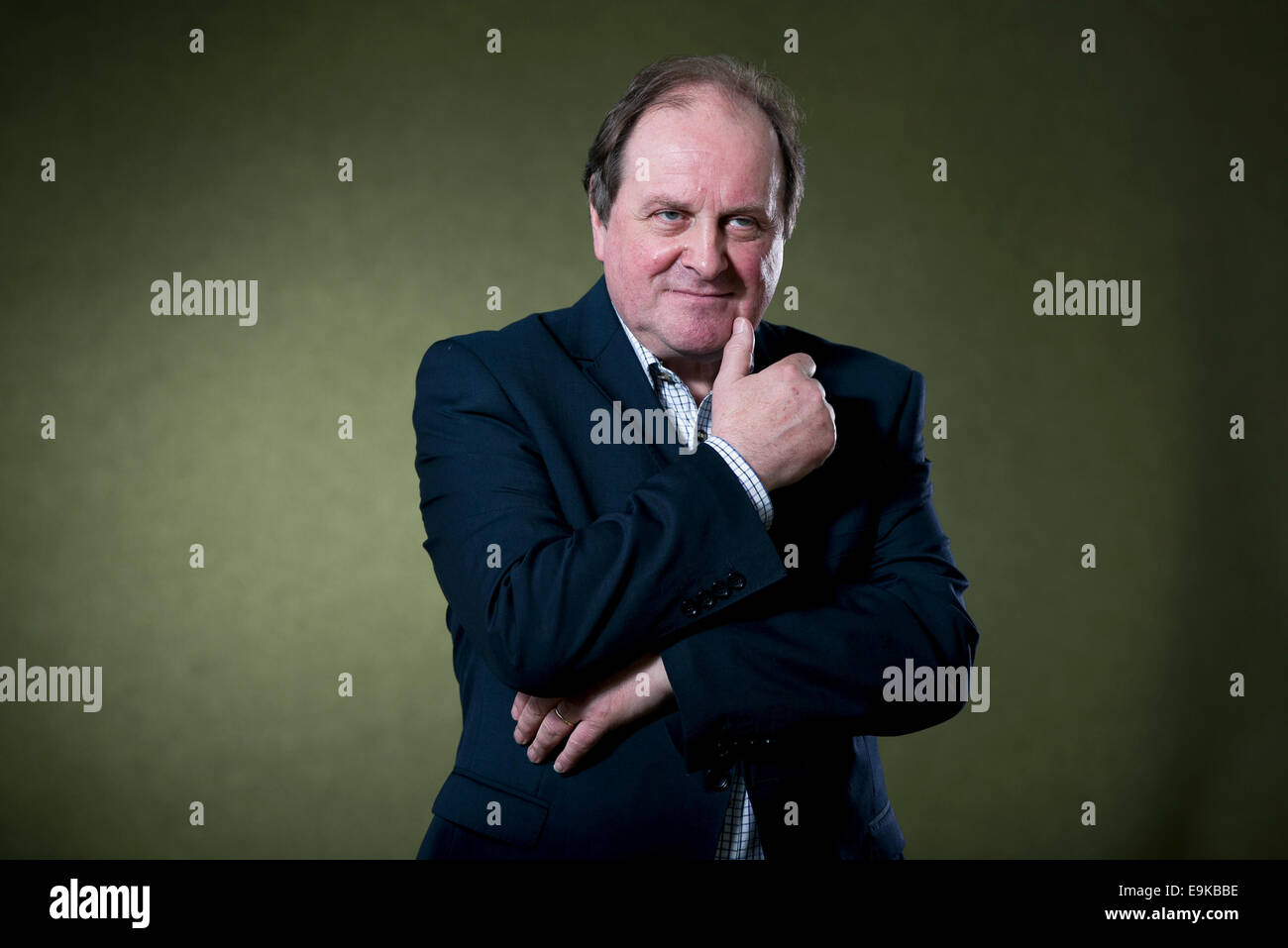 British radio presenter and radio news presenter for the BBC James Naughtie appears at the Edinburgh International - Stock Image