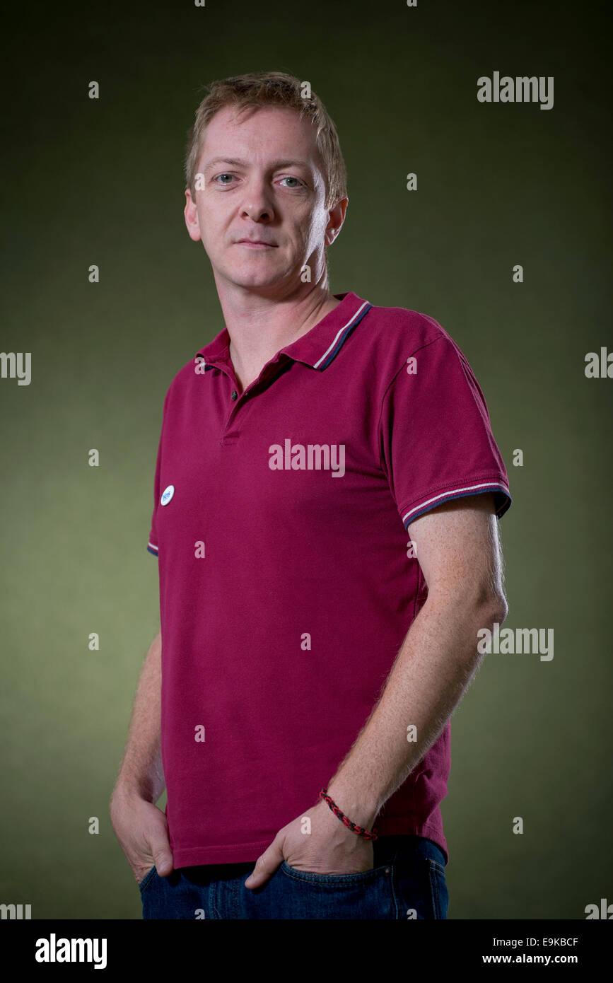 Writer, musician and journalist Doug Johnstone appears at the Edinburgh International Book Festival. - Stock Image