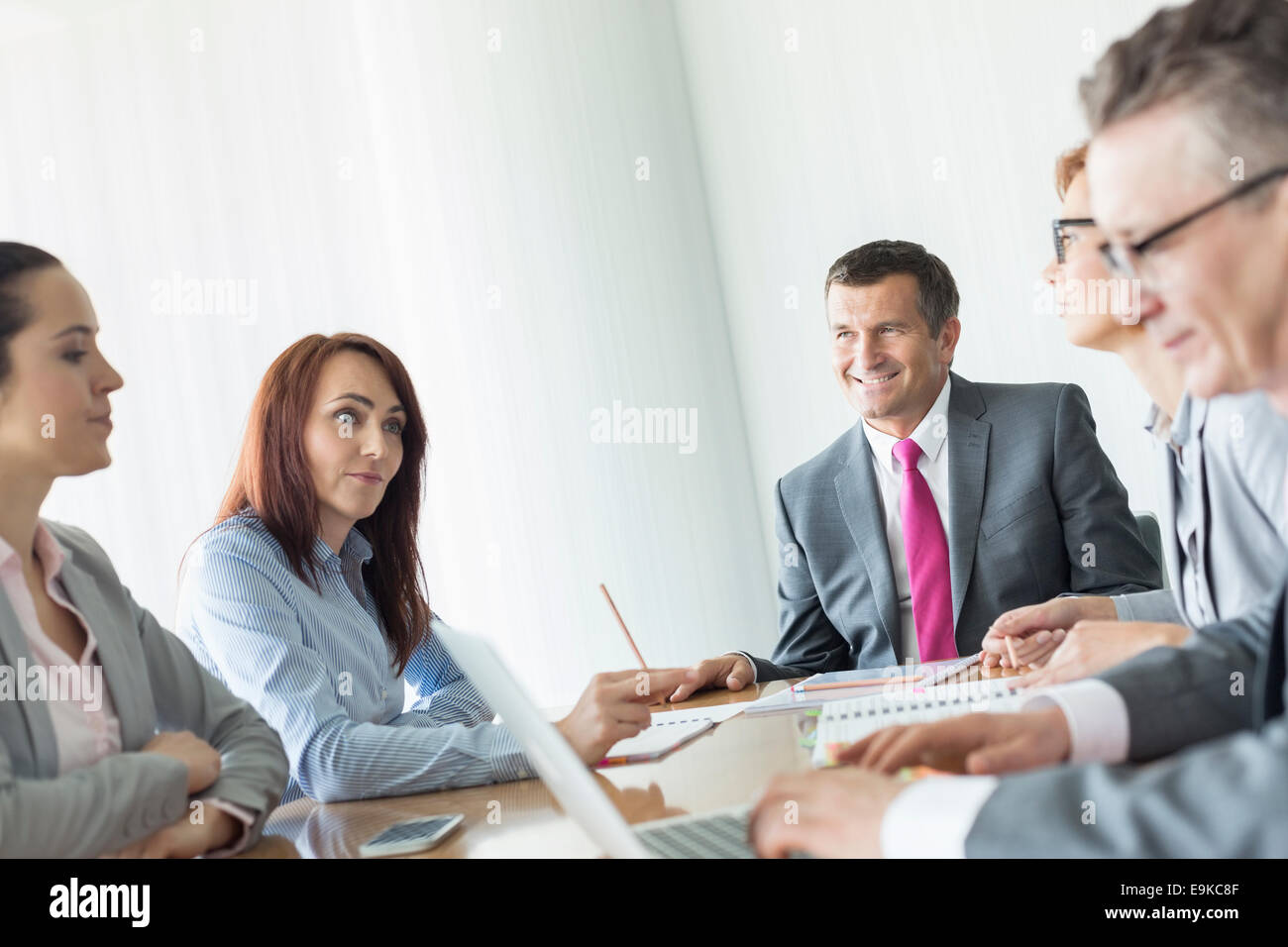 Business people in conference room Stock Photo