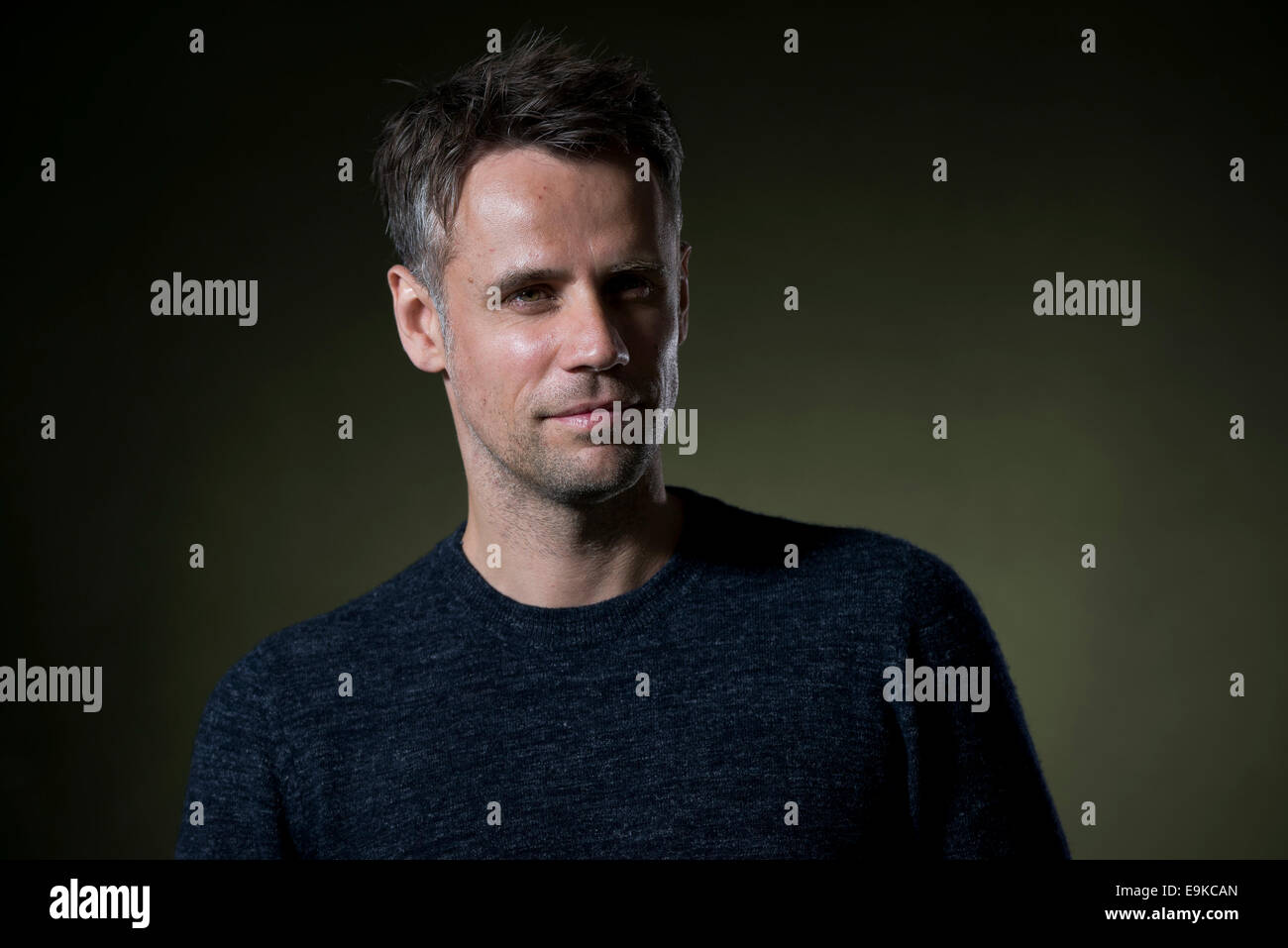British television and radio presenter Richard Bacon appears at the Edinburgh International Book Festival. - Stock Image