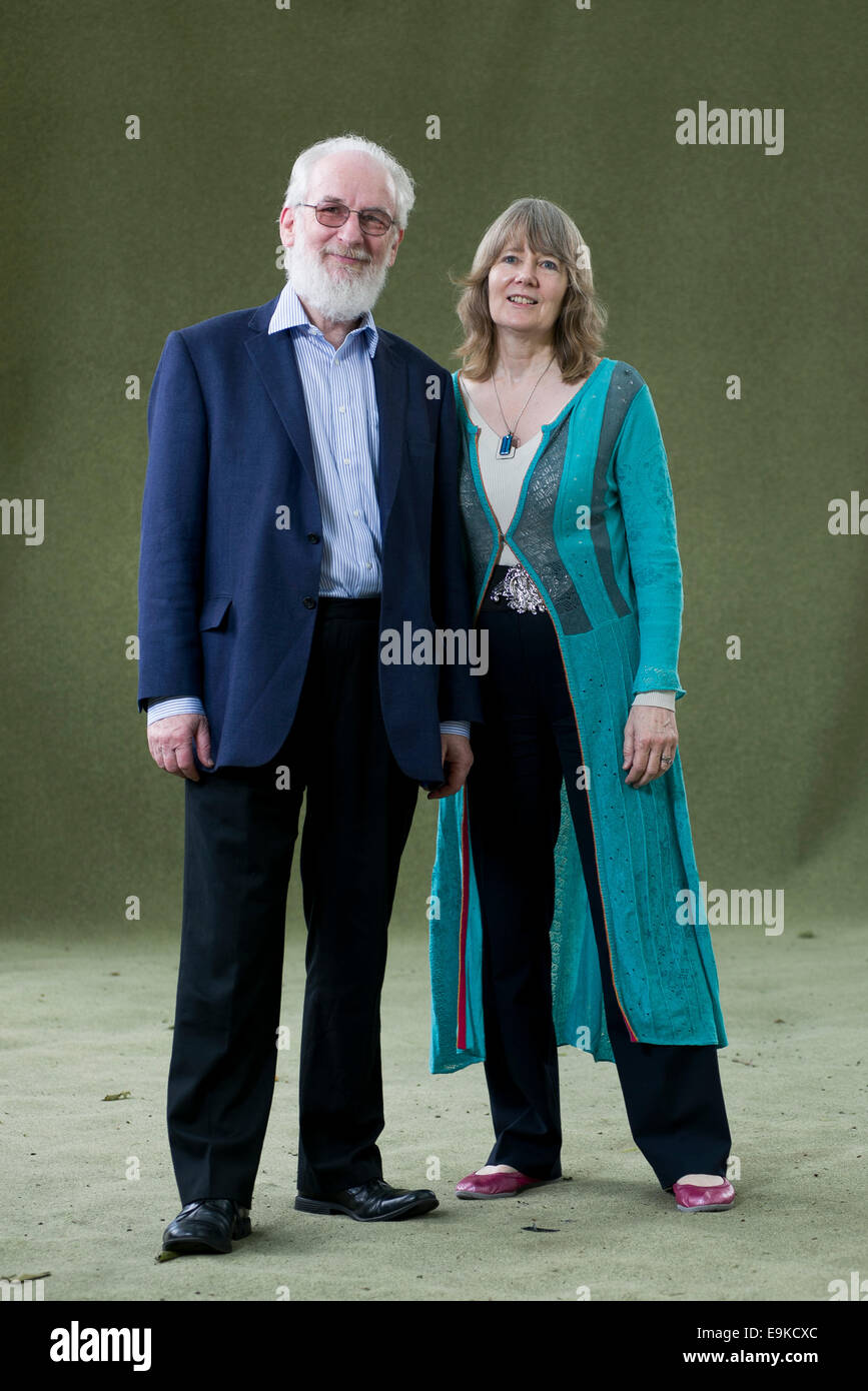 Authors David and Hilary Crystal appear at the Edinburgh International Book Festival. - Stock Image